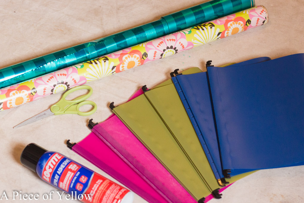 DIY, Drab to Fab, File Folders, Upcycle, Office Organization