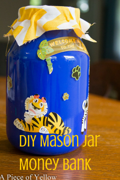 DIY Mason Jar Money Bank